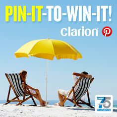 Clarion's 75th Anniversary Spring Break Sweepstakes on Pinterest