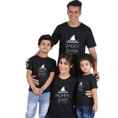 shark printing mother daughter matching clothes mommy and me outfits family look clothing women baby kids daddy son mom boy girl Mother Daughter Matching Outfits, Mommy And Me Outfits, Matching Family Outfits, Matching Shirts, Toddler Outfits, Kids Outfits, Matching Clothes, Shirt Outfit, My Outfit