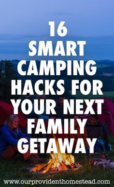 Are you camping with your family this summer? Click here to see 16 smart camping hacks for your next family getaway and enjoy your family vacation even more this year! #family #vacation #camping #campinghacks #campingtips #rvlife