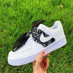 Nike Shoes OFF!> Custom Black/White Bandana Air Force 1 Banana – Krispy Made fashion girls Jordan Shoes Girls, Girls Shoes, Ladies Shoes, Shoes Women, Cute Girl Shoes, Cute Sneakers, Sneakers Nike, Hypebeast Sneakers, Gucci Sneakers