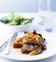 Roast Pork Tenderloin with Apples and Cider Sauce from Epicurious.com #myplate #protein #fruit