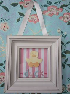 Making this For Baby Duck Pictures, Baby Wall Art, Baby Nursery Decor, Baby Room, Framed Art, Baby Shower, Handmade Gifts, Etsy, Home Decor