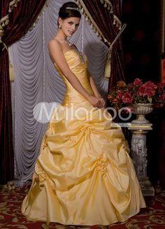 Daffodil Taffeta Beading Strapless Princess Evening Dress. Daffodil Taffeta Beading Strapless Princess Evening Dress. See More Strapless at http://www.ourgreatshop.com/Strapless-C967.aspx