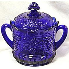Cobalt Blue Cookie Jar