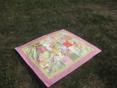 modern chintz quilt for a baby girl's nursery or a woman's beach house