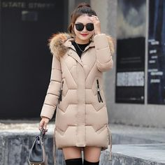6d4ab5b231d1 Hooded Winter Down Coat Jacket Thick Warm Slim Women Casaco Feminino Abrigos  Mujer Invierno 2019 Wadded Parkas Outerwear