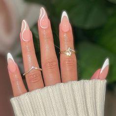 Acrylic Nails Coffin Short, Simple Acrylic Nails, Almond Acrylic Nails, Fall Acrylic Nails, Acrylic Nail Designs Coffin, Wedding Acrylic Nails, Almond Nail Art, Acrylic Nail Art, Frensh Nails