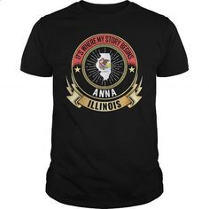 Anna - Illinois Where my story begins - #unique t shirts #womens sweatshirts. I WANT THIS => https://www.sunfrog.com/States/Anna--Illinois-Where-my-story-begins-Black-Guys.html?60505
