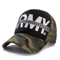 d23bcce6dc04d Warning Printing Baseball Cap Camouflage