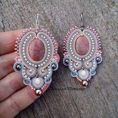 Unique Handmade Soutache Jewelry by MagicalSoutache Emerald Earrings, Tassel Earrings, Etsy Earrings, Crystal Earrings, Statement Earrings, Earrings Handmade, Dangle Earrings, Handmade Jewelry, Friendship Bracelets