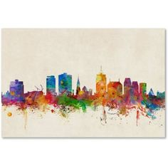 Trademark Fine Art Christchurch New Zealand Skyline Canvas Art by Michael Tompsett, Size: 30 x 47