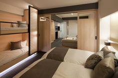 Hotel Room Design, Small Room Design, Teen Bedroom, Bedrooms, Casa Cook Hotel, Contemporary Bunk Beds, Big Bear Cabin, Guest House Plans, Dormitory Room