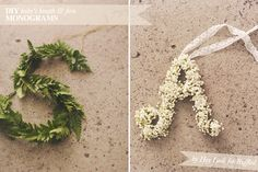 diy ideas, babies breath, fern monogram, fern letters, dried flowers