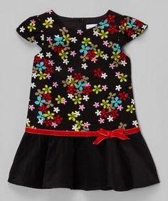 Red Floral Drop-Waist Dress - Infant, Toddler & Girls #zulily #zulilyfinds