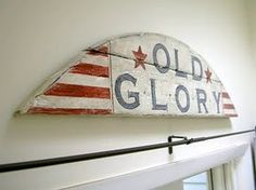 Old Glory sign