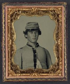 Handsome young confederate soldier