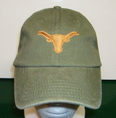 New Texas Longhorn Embroidered Cap Hat by CowgirlsLoft on Etsy, $20.00