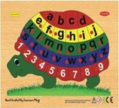 Kids Learning English letters & Numbers is fun and easy with this Tortoise Shape Puzzle. All the twenty-six letters of the English alphabet in lower case & 1 - 10 Numbers are set in the form of a tortoise on the wooden board. Kids will learn through play as they fit the brightly colored wooden pieces with knob on the board. This puzzle will encourage kids to learn the alphabet & counting in a creative and innovative way. English Letter, English Alphabet, Learning The Alphabet, Kids Learning, Shape Puzzles, Learning English, Learning Through Play, Letters And Numbers, Lowercase A