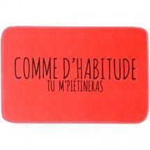 Tapis De Salle De Bain Toucher Soft Comme D'habitude Fun Humour Parme