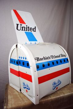 Hey, I found this really awesome Etsy listing at http://www.etsy.com/listing/164777736/barbies-airplane-playset-united-airlines