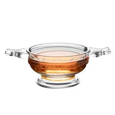 This newly designed version of the antique Scottish quaich represents love and partnership. Made of glass, it features Celtic-style patterns on the outside. Whiskey Gifts, Scotch Whiskey, Celtic Decor, Urban Bar, Aromatic Bitters, Cocktail Bitters, Beer Tasting, Drink Dispenser, Liquor Bottles
