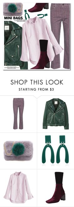 """""""So Cute: Mini Bags"""" by paculi ❤ liked on Polyvore featuring Miu Miu, MANGO, leatherjackets and minibags"""