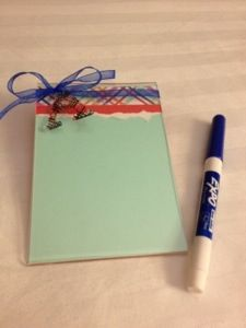 Dry-erase note pad - great office gift -simple gift with simple directions, (She Pins, She Tries, She Posts)