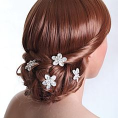 bodas de prata vara cabelo liga para a noiva (5 peças)
