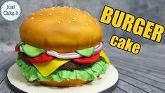 How to make a hamburger cake EASY WAY all cake inside