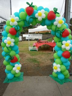 Strawberry Patch Balloon Arch