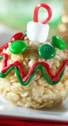 Ornaments You Can Eat....Rice Krispy Ornament