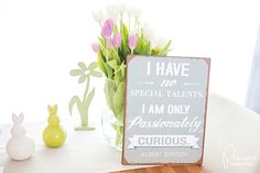 I have no special talents - I am only passionately curious. Albert Einstein, Place Cards, Place Card Holders, Quote, Motivation, Medium, Cupcake Signs, Sheet Metal, Deko