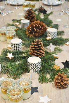 Winter Table Decor...pincones