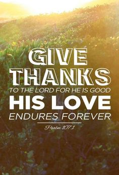 ....His love endures forever.