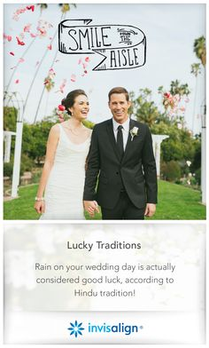 Invisalign Wedding | Smile Down The Aisle | Dreaming of an outdoor wedding but worried about rain?  Rain on your wedding day is actually good luck in some cultures. Have you ever been to a wedding where it rained?