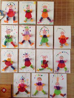 Farsangi ötletkavalkád - érdemes megnézni! - Óvó néni.blog.hu Clown Crafts, Carnival Crafts, Projects For Kids, Crafts For Kids, Spring School, Stationery Craft, Drawing For Kids, Toddler Activities, Mardi Gras