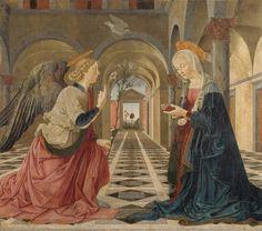 Isabella Stewart Gardner Museum : The Annunciation Piermatteo d'Amelia, Italian (Umbria), about 1450-1503/1508