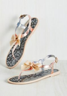 To truly appreciate these glossy beige sandals, youll have to slow down your stride for everyone to get a glimpse! Beige Sandals, Beige Shoes, Cute Sandals, Shoes Sandals, Simple Sandals, Flat Shoes, Modcloth Shoes, Jelly Shoes, Jelly Sandals