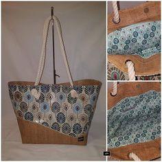 Kréaméline sur Instagram: Grand sac Cabas, en simili imitation lilège et toile coton/lin plumes de paon reflet or. Doublure coton assortie, double poche dont une…