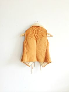 Uruguayan Shearling Leather Vest  Vintage Tan by EllsworthAndSmith, $92.00