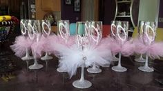 Get a set of Team Bride with Ring. 8 oz toasting bridal party/wedding party glasses. by 1ArtsyVixen on Etsy