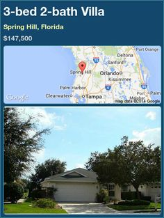 3-bed 2-bath Villa in Spring Hill, Florida ►$147,500 #PropertyForSale #RealEstate #Florida http://florida-magic.com/properties/73892-villa-for-sale-in-spring-hill-florida-with-3-bedroom-2-bathroom