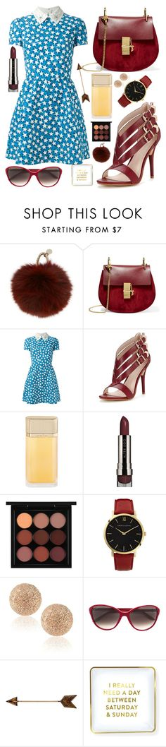 """ruby august#"" by issuri ❤ liked on Polyvore featuring Yves Salomon, Chloé, Valentino, Glamorous, Cartier, LORAC, MAC Cosmetics, Larsson & Jennings, Carolina Bucci and Saturday/Sunday"