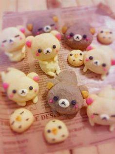 Rilakkuma cookies - how could anyone eat this cuteness!!!!!!!!!!!!!!