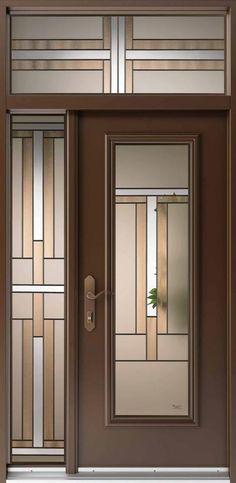voici une porte/un vitrail au style Art déco. Très chic, « elle a la légèreté du verre, mais aussi la chaleur de la marqueterie de bois » selon ses créateurs, UNTTLD. Voici, Bathroom Medicine Cabinet, Armoire, Stained Glass, Architecture, Design, Furniture, Collection, Home Decor