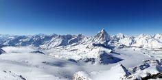 Matterhorn und die umliegende Bergmassive. Zermatt, Berg, Mount Everest, Highlights, Mountains, Nature, Travel, Naturaleza, Trips