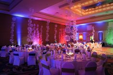 Colorful Rainbow Bar Mitzvah Lighting & Balloons, Party Balloon Decorations {A Magic Moment Photography} - mazelmoments.com