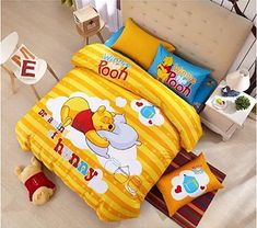 Peachy Baby Featuring Disney Winnie The Pooh Bedding Sheet Set Single Queen Twin Full Size 【Free Express Shipping】 Cotton】 Cartoon 3 and 4 Pieces Bed Sheets (Queen Size) Winnie The Pooh Bedding, Winnie The Pooh Blanket, Disney Winnie The Pooh, Organic Baby Clothes, Unisex Baby Clothes, Flat Sheets, Bed Sheets, Newborn Tieback, Queen Sheets