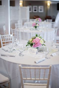 A Pink & Navy Maine Wedding via TheELD.com | Kristen Weaver Photography