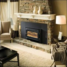fireplace inserts wood burning with blower ...